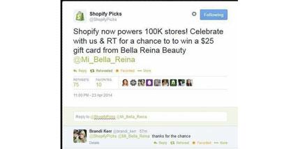 Shopify picks Bella Reina spa