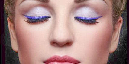Purple eyeliner at Bella Reina Spa