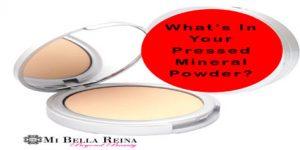 Pressed mineral powder at Bella Reina Spa