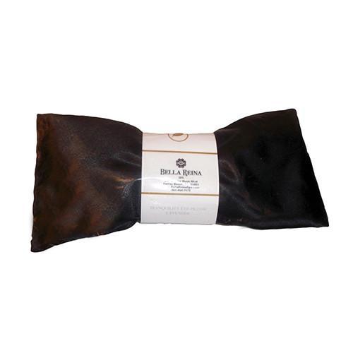 Bella Reina Organic Flax Seed Lavender Eye Pillow - Black Satin