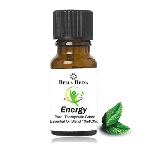 Energy Therapeutic Grade Essential Oil Blend by Bella Reina (.35oz)
