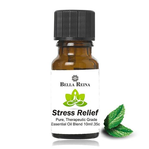 Stress Relief Therapeutic Grade Essential Oil Blend by Bella Reina (.35oz)