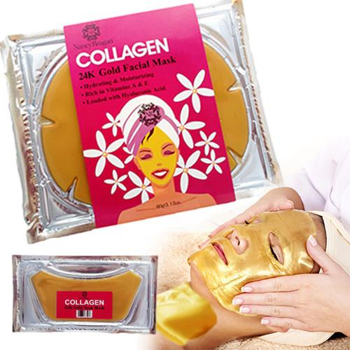 Nancy Reagan 24K Gold Collagen Face Mask and Neck Mask Combo