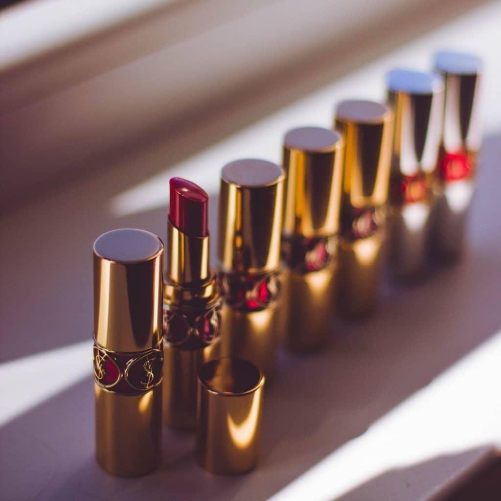 Multi-colored luxury lipsticks