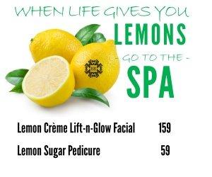 April Spa Specials Go Lemon Crazy!