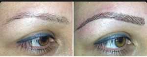 Eyebrows_ Blue Eyeliner_Bella Reina Spa