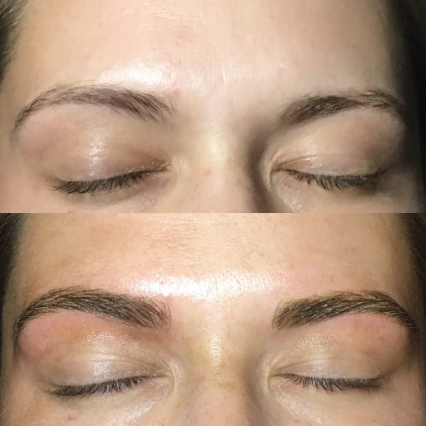 Microblading Example _ 3 D Eyebrow Tattoo _ Bella Reina Spa Delray Beach, FL
