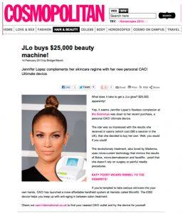 Jennifer Lopez Microcurrent Machine