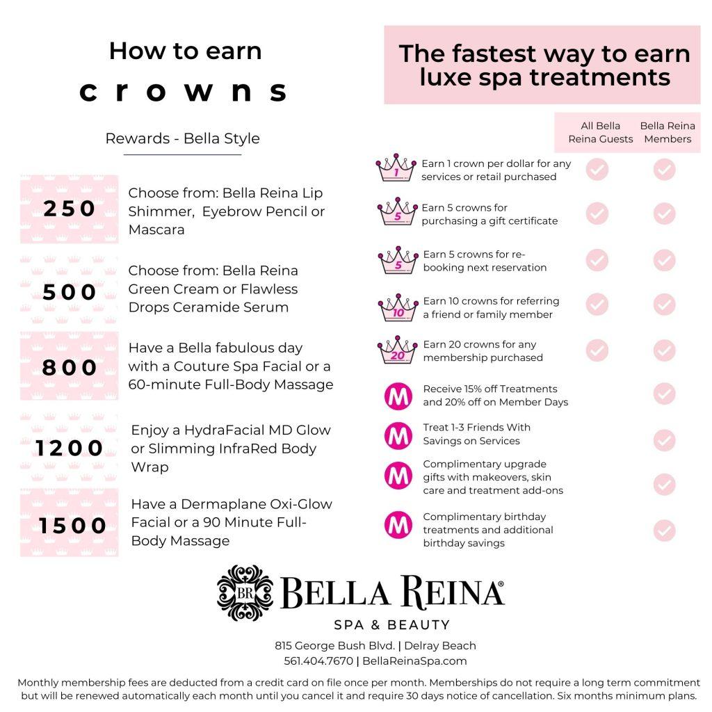 Spa Rewards Program Bella Reina Spa