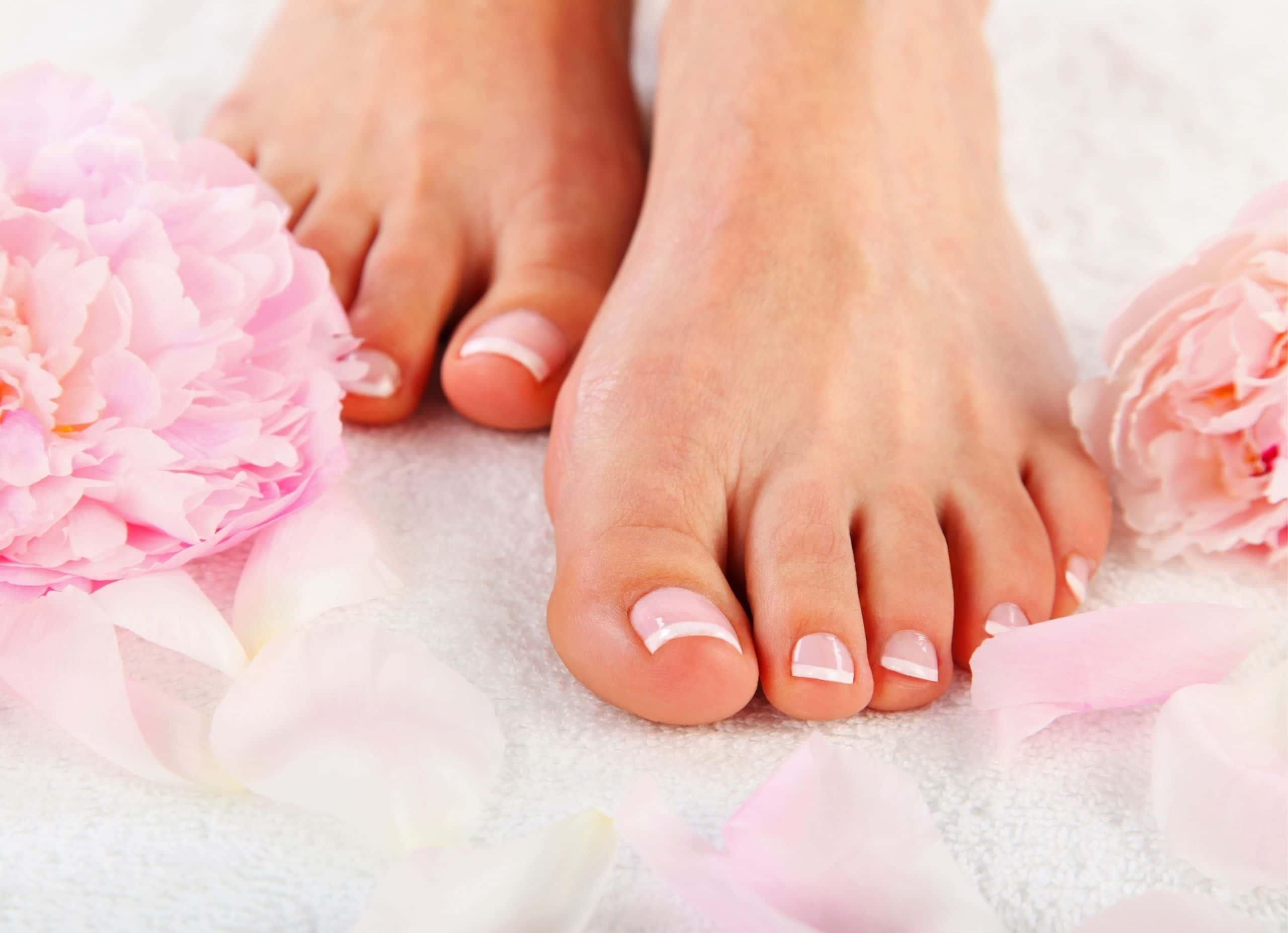 Wellness natural pedicure at day spa